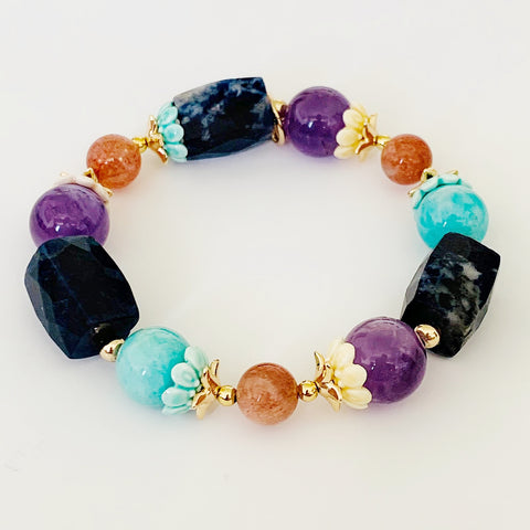 Amazonite Rock Candy Bracelet