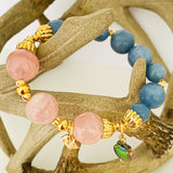 Madagascar Rose Quartz & Angelite Bracelet
