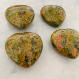 Puffy Unakite Hearts