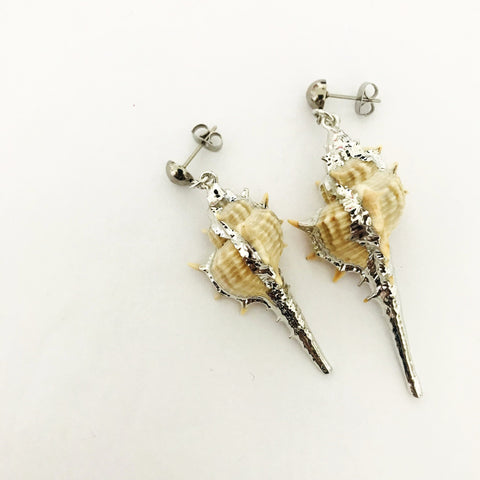 PREORDER- Conch Shell Asymmetrical Earrings SHW