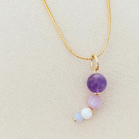 Kunzite Moon Pendant/Necklace