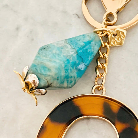 Amazonite Bag Charm/ Key Ring