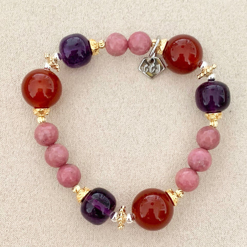 Love of Red Agate & Amethyst