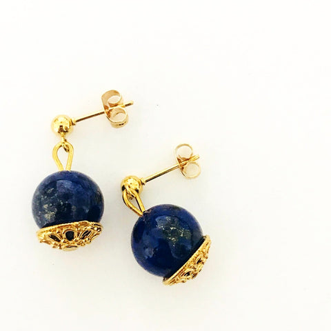 Lapis Lazuli Earrings GHW