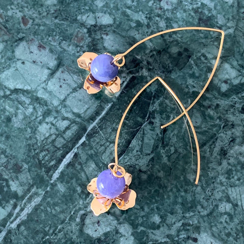 Le Petite Tanzanite Earrings GHW