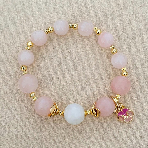 Moonstone Angel Pink Bracelet