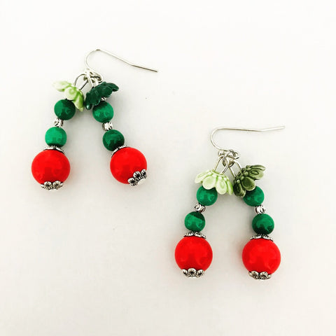 Cheerful Cherries Earrings SHW