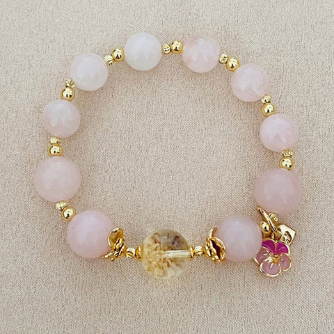 Citrine Angel Pink Bracelet