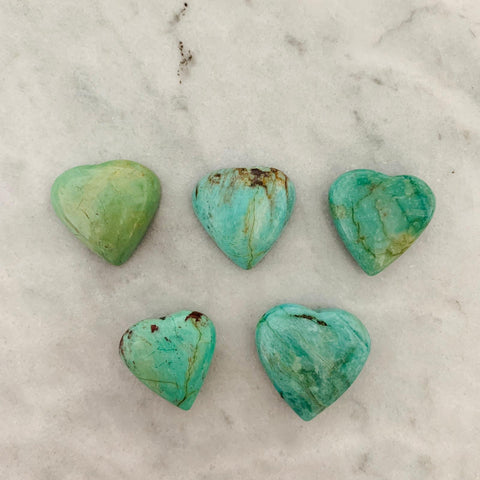 Turquoise Heart Cabochon