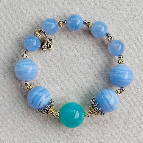 Jade Amazonite Angel Blue Bracelet