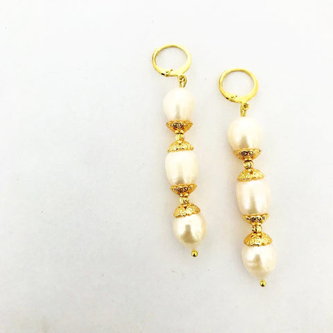 Luxury Baroque Pearls Earrings