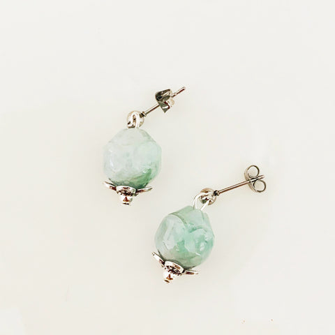 Jade Rose Earrings SHW