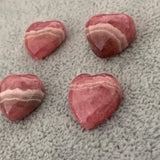 Puffy Rhodochrosite Hearts