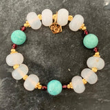 Amazonite & White Agate