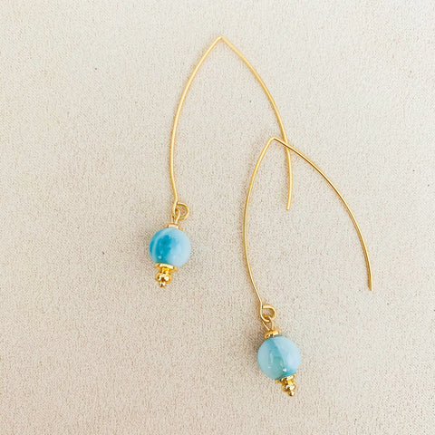 Larimar Dangly Earrings