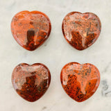 Puffy Red Jasper Hearts