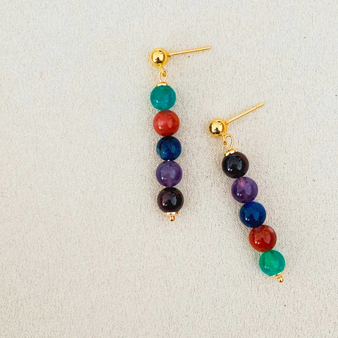 7Chakra Stud Earrings