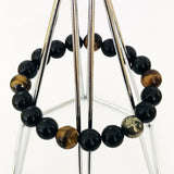 Premium Black Tourmaline & Golden Tigereye Men Bracelet