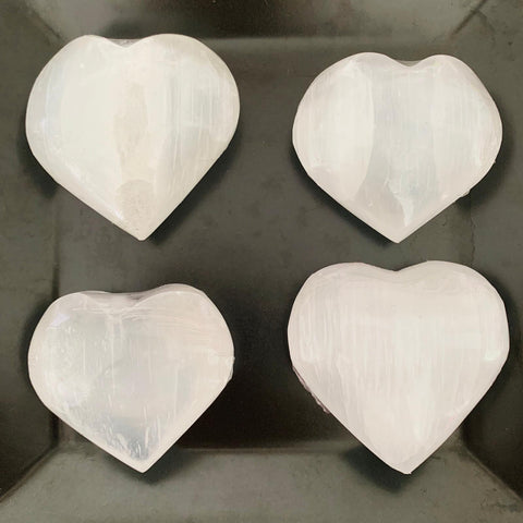 Puffy Selenite Heart Crystal