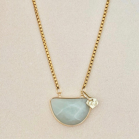 Pastel Green Aventurine Necklace