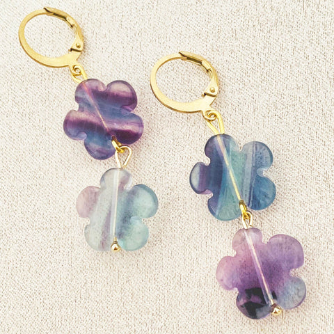Fleur de Fluorite Earrings
