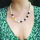 Covet Rainbow Pearl Necklace