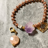 Amethyst & Sunstone (With Letter Charm)