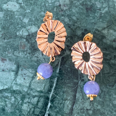 Tanzanite Le Fan Earrings