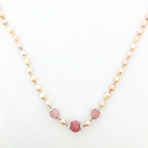 Pink Pearls Necklace SHW