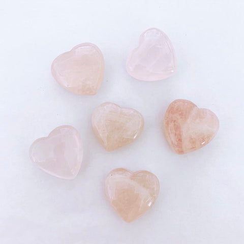 Puffy Rose Quartz Hearts