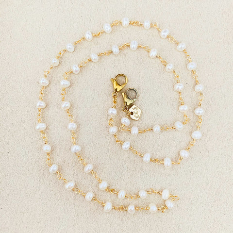 Natural Baroque Pearls Mask Chain Necklace