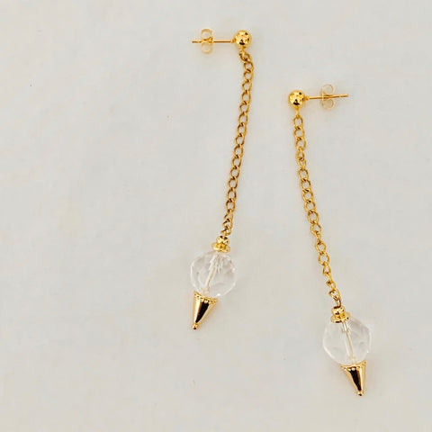 Cool Quartz Earrings