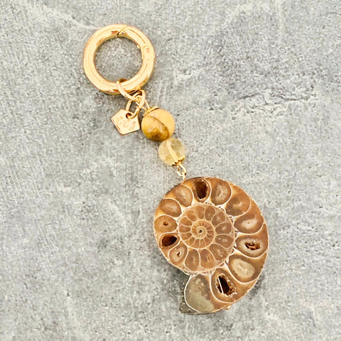Protection & Wealth Ammonite Charm