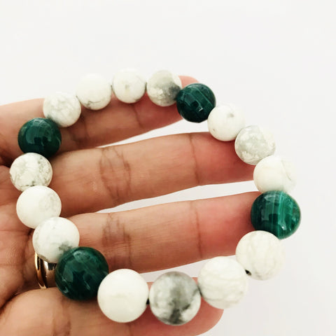 Men Howlite With Malachite