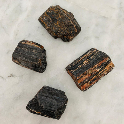 Raw Black Tourmaline Crystals