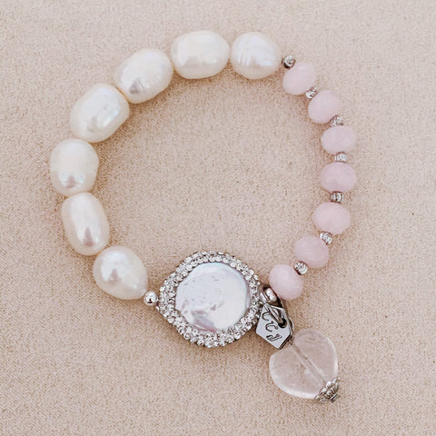Pearls & Rose Quartz Bracelet