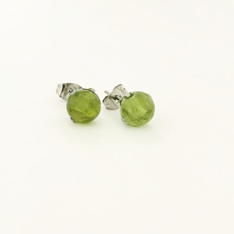 Peridot Stud Earrings SHW