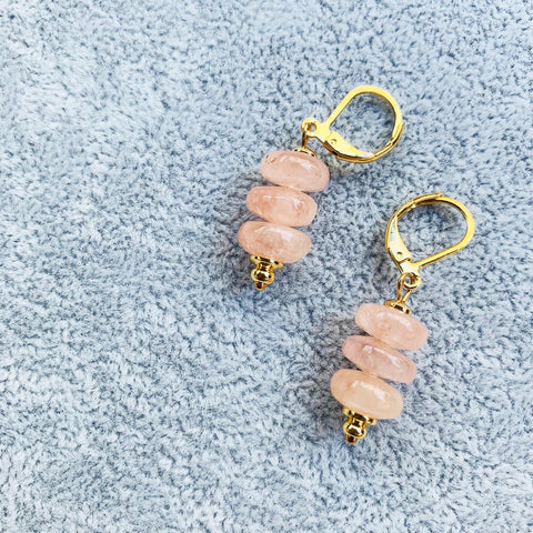 Peach Morganite Earrings