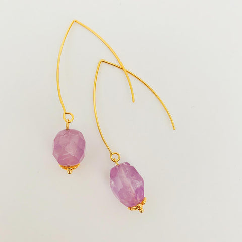 Lavender Amethyst Earrings