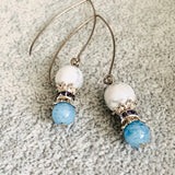 Howlite & Aquamarine Earrings