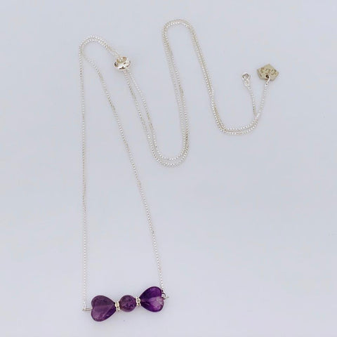 Amethyst Ribbon Necklace