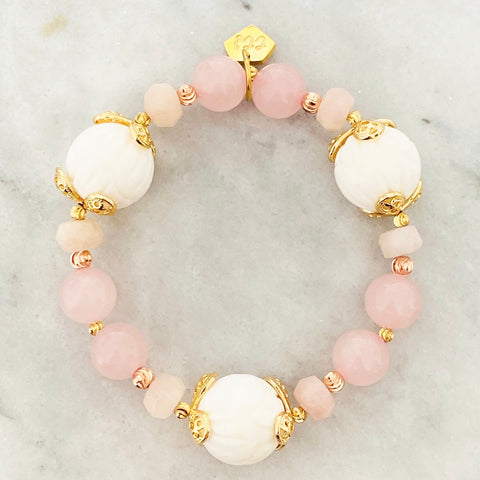 White Coral & Rose Quartz