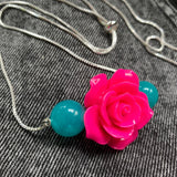 Amazonite Rose Necklace
