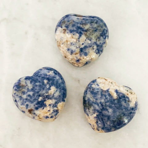 Puffy Sodalite Heart