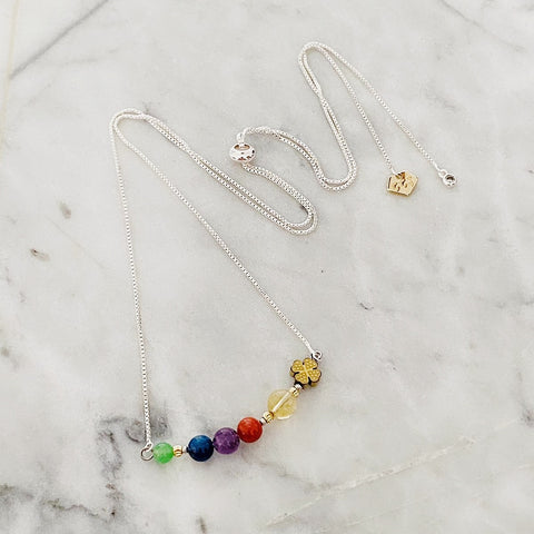 Rainbow Lucky Clover Necklace