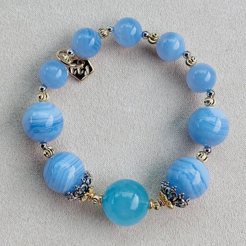 Aquamarine Angel Blue Bracelet