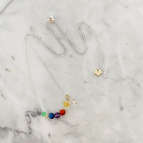 Rainbow Shooting Star Necklace