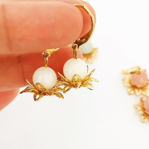 White Lotus Earrings