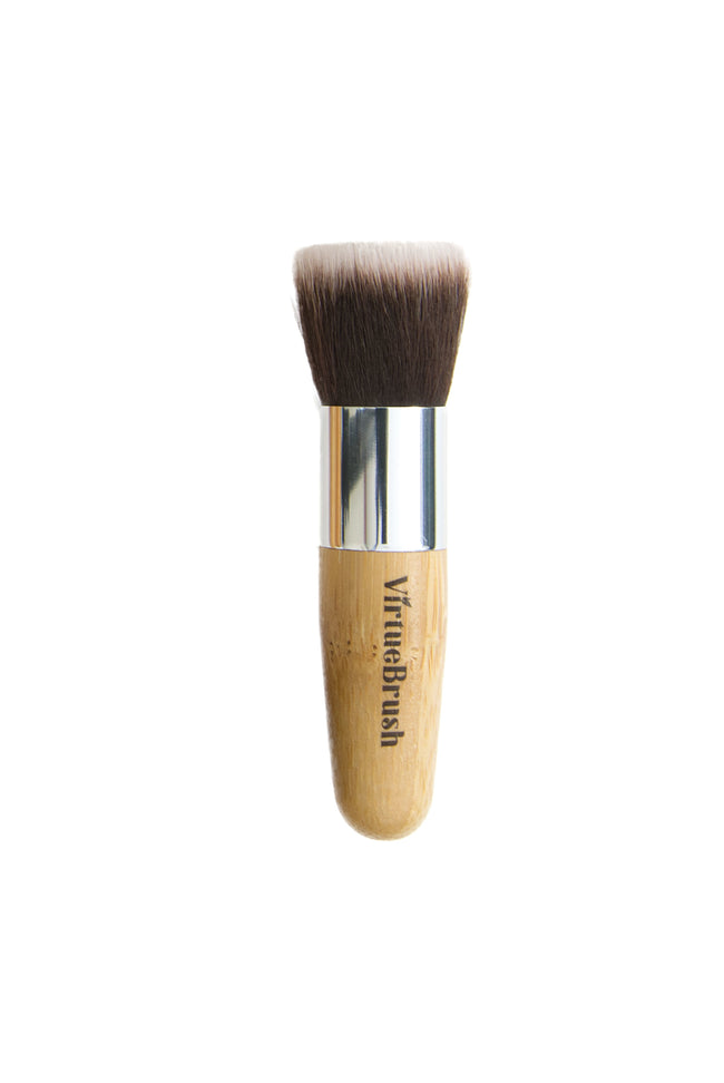 MAKEUP Flat Foundation Brush with Bamboo Handle