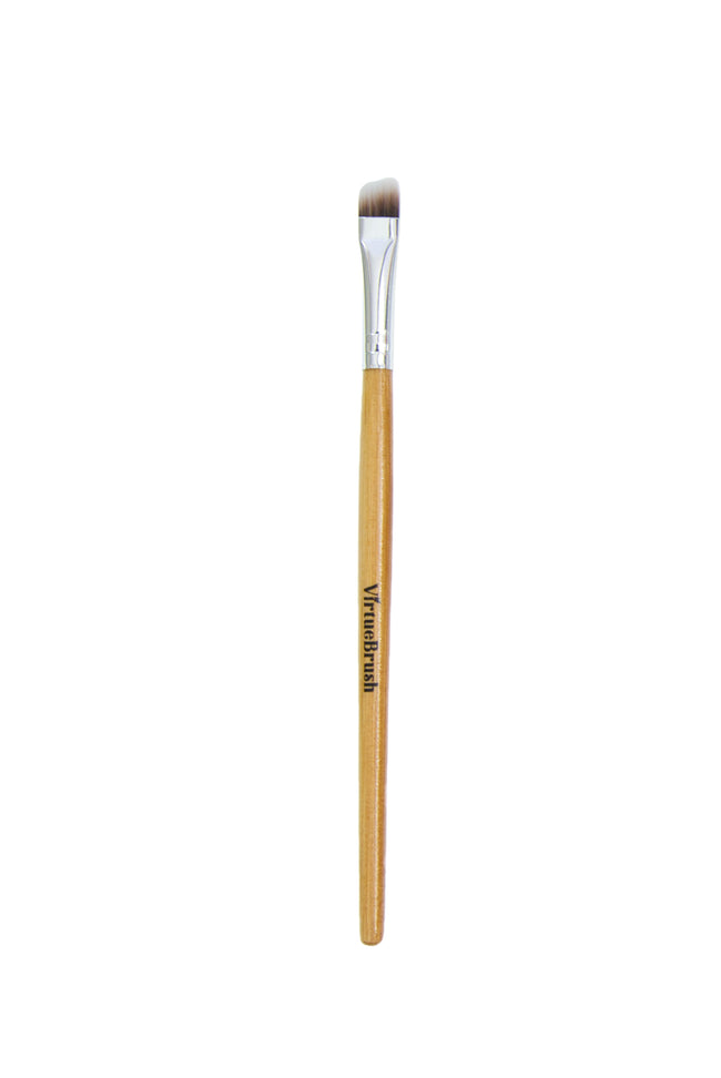 MAKEUP Angled Eyebrow Brush with Bamboo Handle
